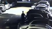 刮车狂魔!男子深夜刮花小区70辆车 否认后看到监控秒怂